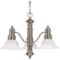 Nuvo Lighting Gotham 3 Light Chandelier in Brushed Nickel 60/190