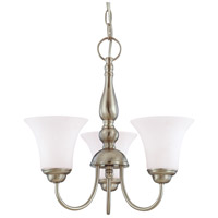 Nuvo Lighting Dupont 3 Light Chandelier in Brushed Nickel 60/1901