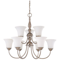 Nuvo Lighting Dupont 9 Light Chandelier in Brushed Nickel 60/1903