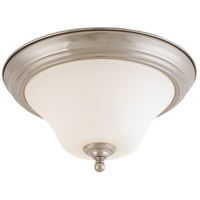 Nuvo 60/1905 Dupont 2 Light 13 inch Brushed Nickel Flushmount Ceiling Light photo thumbnail