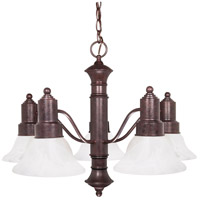 Nuvo Lighting Gotham 5 Light Chandelier in Old Bronze 60/191