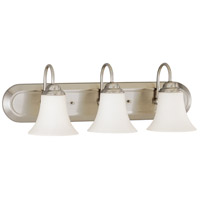 Nuvo 60/1914 Dupont 3 Light 24 inch Brushed Nickel Vanity & Wall Wall Light