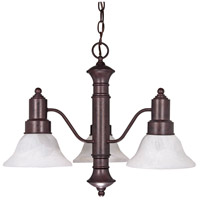 Nuvo Lighting Gotham 3 Light Chandelier in Old Bronze 60/192