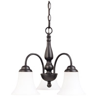 Dupont 3 Light 16 inch Dark Chocolate bronz Chandelier Ceiling Light