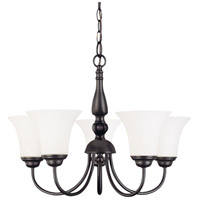 Nuvo 60/1922 Dupont 5 Light 21 inch Dark Chocolate bronz Chandelier Ceiling Light photo thumbnail