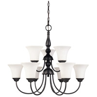 Nuvo 60/1923 Dupont 9 Light 28 inch Dark Chocolate bronz Chandelier Ceiling Light photo thumbnail