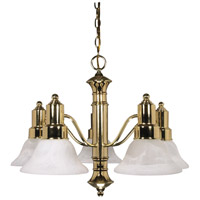 Nuvo 60/193 Gotham 5 Light 25 inch Polished Brass Chandelier Ceiling Light