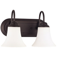 Nuvo Lighting Dupont 2 Light Vanity & Wall in Dark Chocolate bronz 60/1933
