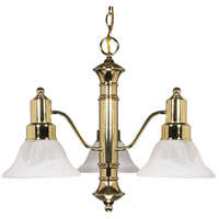 Nuvo Lighting Gotham 3 Light Chandelier in Polished Brass 60/194