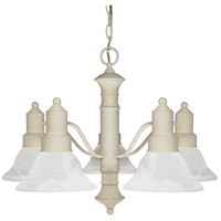 Nuvo Lighting Gotham 5 Light Chandelier in Textured White 60/195