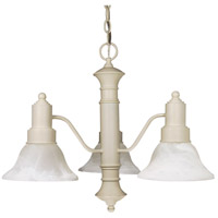 Nuvo 60/196 Gotham 3 Light 23 inch Textured White Chandelier Ceiling Light