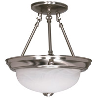 Nuvo 60/200 Signature 2 Light 11 inch Brushed Nickel Semi-Flush Ceiling Light photo thumbnail