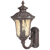 Beaumont 3 Light 28 inch Fruitwood Outdoor Wall Lantern
