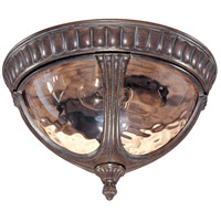 Nuvo 60/2007 Beaumont 2 Light 13 inch Fruitwood Outdoor Flushmount