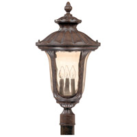 Beaumont 3 Light 27 inch Fruitwood Outdoor Post Lantern