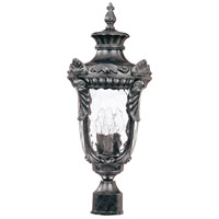 Nuvo Lighting Dunmore 3 Light Outdoor Post Lantern in Greystone 60/2027 photo thumbnail