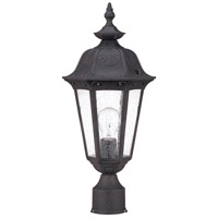Cortland 1 Light 20 inch Satin Iron ore Outdoor Post Lantern