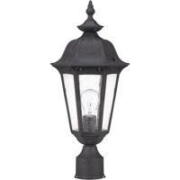 Nuvo Lighting Cortland 1 Light Outdoor Post Lantern in Satin Iron ore 60/2039 photo thumbnail