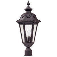 Cortland 3 Light 24 inch Satin Iron ore Outdoor Post Lantern