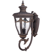 Nuvo Lighting Philippe 3 Light Outdoor Wall Lantern in Belgium Bronze 60/2041