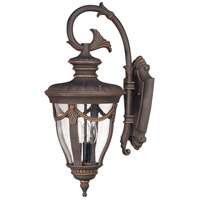 Nuvo Lighting Philippe 3 Light Outdoor Wall Lantern in Belgium Bronze 60/2042