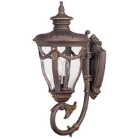 Philippe 2 Light 22 inch Belgium Bronze Outdoor Wall Lantern