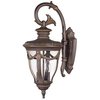 Nuvo Lighting Philippe 2 Light Outdoor Wall Lantern in Belgium Bronze 60/2044