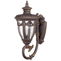 Nuvo Lighting Philippe 1 Light Outdoor Wall Lantern in Belgium Bronze 60/2045