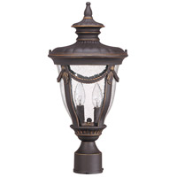 Philippe 2 Light 20 inch Belgium Bronze Outdoor Post Lantern