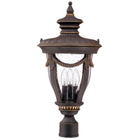 Nuvo 60/2050 Philippe 3 Light 23 inch Belgium Bronze Outdoor Post Lantern