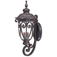 Corniche 3 Light 28 inch Burlwood Outdoor Wall Lantern