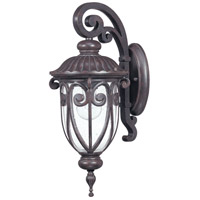 Corniche 1 Light 18 inch Burlwood Outdoor Wall Lantern