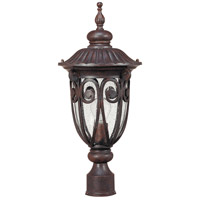 Nuvo 60/2069 Corniche 1 Light 22 inch Burlwood Outdoor Post Lantern