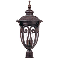 Nuvo 60/2070 Corniche 3 Light 26 inch Burlwood Outdoor Post Lantern