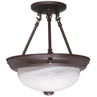 Signature 2 Light 11 inch Old Bronze Semi-Flush Ceiling Light