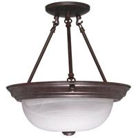 Signature 2 Light 13 inch Old Bronze Semi-Flush Ceiling Light