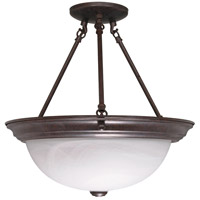Signature 3 Light 15 inch Old Bronze Semi-Flush Ceiling Light