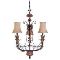 Nuvo Lighting Verdone 3 Light Chandelier in Gilded Cage 60/2101