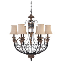 Verdone 6 Light Gilded Cage Chandelier Ceiling Light