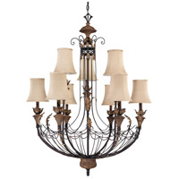Nuvo Lighting Verdone 9 Light Chandelier in Gilded Cage 60/2103 photo thumbnail