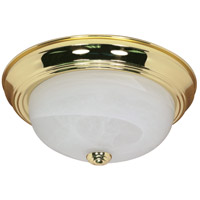 Nuvo Lighting Signature 2 Light Flushmount in Polished Brass 60/214