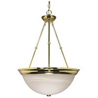 Nuvo Lighting Signature 3 Light Pendant in Polished Brass 60/220
