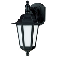 Nuvo Lighting Cornerstone Es 1 Light Outdoor Wall Lantern with Photocell in Textured Black 60/2206 photo thumbnail