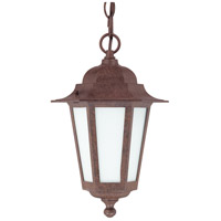 Nuvo Lighting Cornerstone Es 1 Light Outdoor Hanging Lantern with Photocell in Old Bronze 60/2208