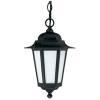 Nuvo Lighting Cornerstone Es 1 Light Outdoor Hanging Lantern with Photocell in Textured Black 60/2209 photo thumbnail