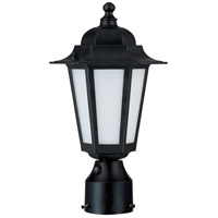 Nuvo Lighting Cornerstone Es 1 Light Outdoor Post Lantern with Photocell in Textured Black 60/2213 photo thumbnail