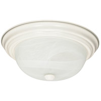 Nuvo 60/222 Signature 2 Light 13 inch Textured White Flushmount Ceiling Light