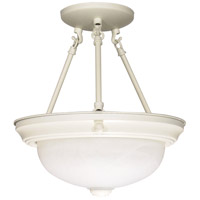 Signature 2 Light 13 inch Textured White Semi-Flush Ceiling Light