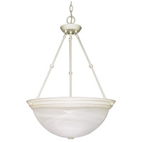 Nuvo 60/228 Signature 3 Light 20 inch Textured White Pendant Ceiling Light photo thumbnail