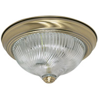 Nuvo Lighting Signature 2 Light Flushmount in Antique Brass 60/229